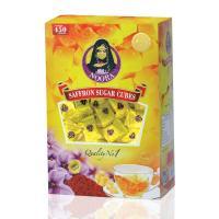 Saffron sugar cubes