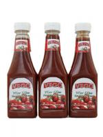 Wholesale tomato ketchup 340g plastic bottle tomato sauce