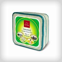ASSORTED GREEN TEA SQUARE REED PACK 200G