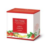 APPLE GINGER TEA 10 PYRAMID TEA BAGS