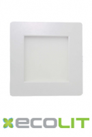 Square 9W SQR Ecolit LED Panel Light