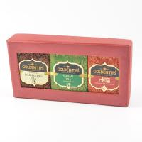 3-in-1 Handmade Paper Box Darjeeling - Green and Masala chai - 3x50g