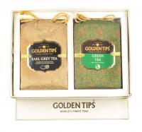 Seasons gift box pack pure green and earl grey black tea - brocade bag- 2x100g