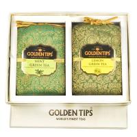 Seasons Gift Box Pack Pure Mint Green and Lemon Green Tea - Brocade Bag - 2X100g