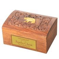 Jumbo Chest- Darjeeling Tea - Carved Wooden Box - 200g