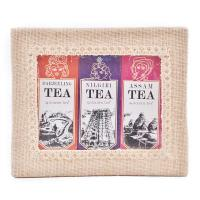 3-in-1 Jute Box -Darjeeling Assam and  Nilgiri Teas - 3x50g