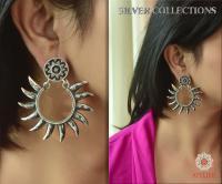 Slve140- silver ear rings