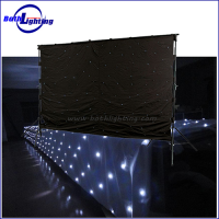 White color led star cloth curtain
