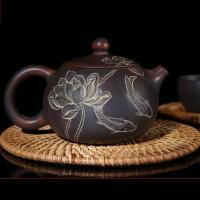Chinese Nixing Xishi Pottery Pure Handmade Teapot Family Tea Ware Master Tea Pot