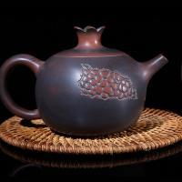 Ceramic Teapot Qinzhou Nixing Pomegranate Tea Pot 230ml Hand Painting Tea Set
