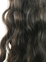 Virgin uncoloured brazilian virgin remy human hair weft 16inches curly wavy or straight