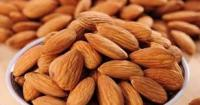 Raw almond nuts in bulk