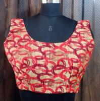 Oval Pattern Red Blouse