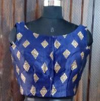 Berry blue blouse