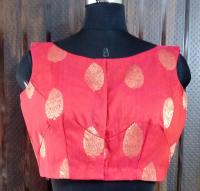 Rose red dupion blouse