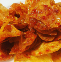 Dish potato chips