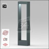 Modern led garden lamp rectangular landscape bollard light
