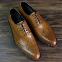 Bespoke Handmade Goodyear Genuine Leather Men Brogue Dress Shoes
