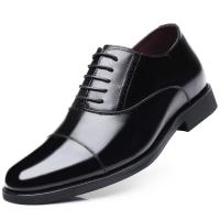 Taller men 7 cm height increasing elevator leather shoes