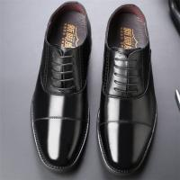 Taller Men 7 cm Height Increasing Elevator Leather Shoes_15