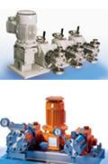 Process metering pumps (up to 12000 lit/hr at up to 4000 bar)