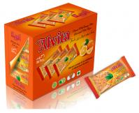 Biscuit with orange taste topped with sugar - shiny (36 pcs)