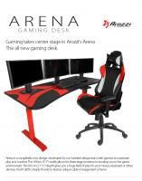 Arozii arena gaming desk/computer table – black