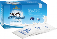 Kings kuma full cream milk powder sachet box - vitamin a & d