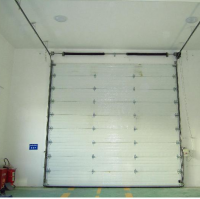 Steel sectional door
