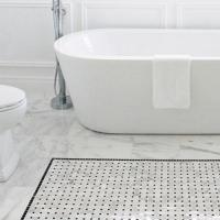 Bianco Carrara White Marble Floor Tile