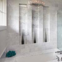 Polished 4''x18'' bianco carrara marble wall tile