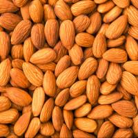 Sweet california almonds, raw almonds nuts, roasted almonds
