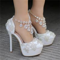 Fashion Luxury Rhinestone Ultra High Heels Women's Wedding Shoes_8