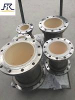 Ceramic lined composite pipe and ceramic elbow