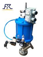 Pneumatically operated tank bottom valve
