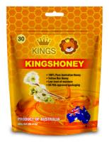 Kings kuma yellow honey straws (30 x 12g)/ bag 100% australian product