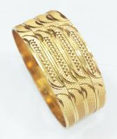 Cnc diegold brass bangle 6mm width
