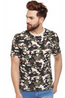 Visavi men camouflage t-shirt - army green