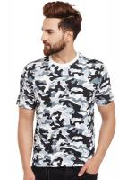 Visavi men camouflage t-shirt - grey black