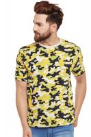 Visavi men camouflage t-shirt - yellow & green