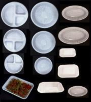 Plastic disposable trays & plates