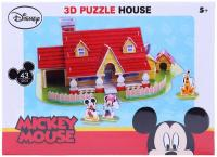 Disney 3d puzzle house mickey house, 43 pcs ( ds0905h)