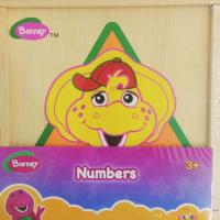 Barney wooden toys numbers (muj831)