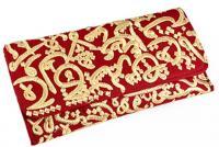 Fully handmade bag arabic writing-red 17*30 cm
