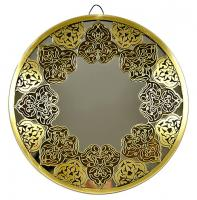 Fully handmade copper mirror (m)-1 30 cm