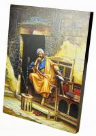 Fully handmade painting made of wood orientalist paintings-4 42*30 cm