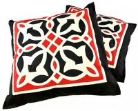 Fully handmade throw pillow-red 50*50 cm