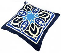 Fully handmade Throw Pillow-Blue 50*50 cm_4
