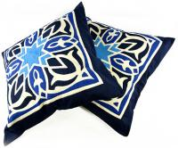 Fully handmade throw pillow-blue 50*50 cm