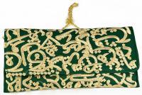 Fully handmade bag arabic writing-green 17*30 cm